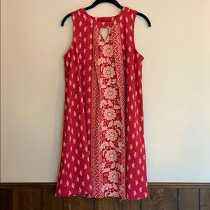 Xhiliration red floral dress